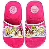 Joah Store Boys Girls Slide Sandals Shoes Spider-Man Star Wars Elsa Princess Iron-Man Mickey Characters (9.5 M US Toddler, Princess)