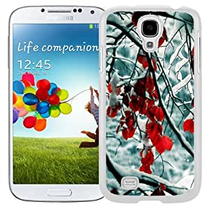 New Beautiful Custom Designed Cover Case For Samsung Galaxy S4 I9500 i337 M919 i545 r970 l720 With Snow Leaves (2) Phone Case