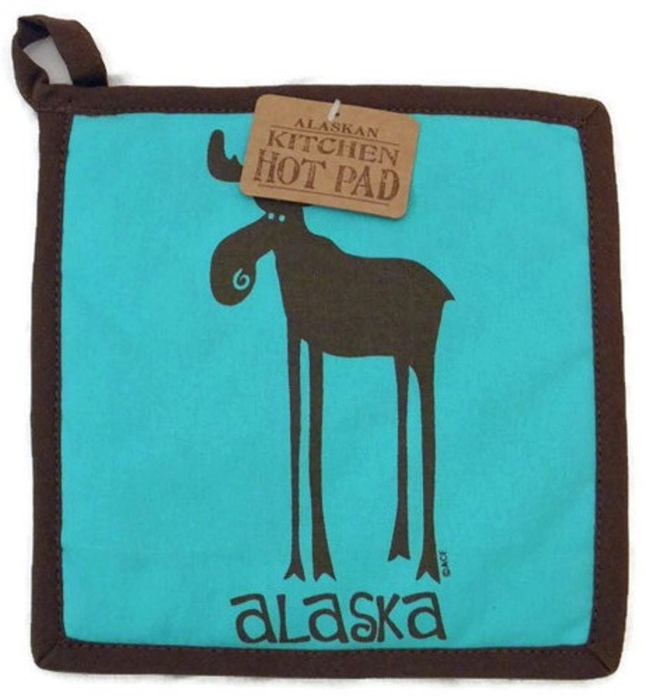 Leggy Moose Hot Pad 8 X 8 inches Pot Holder