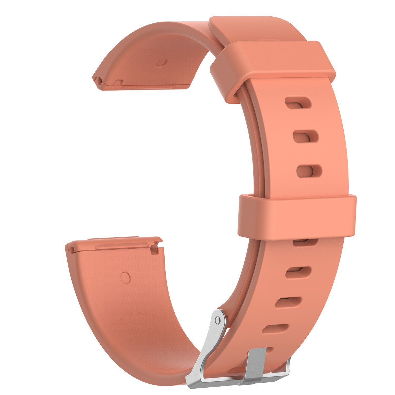 tencloud Versaスポーツバンド、交換用ソフトシリコンリストバンドW/メタルバックルfor Fitbit Versa Fitness Smartwatch Small/Large B07BS54DHP L (7.1