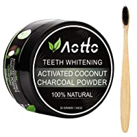 Aotto Activated Charcoal Natural Teeth Whitener Teeth Whitening Charcoal Powder...