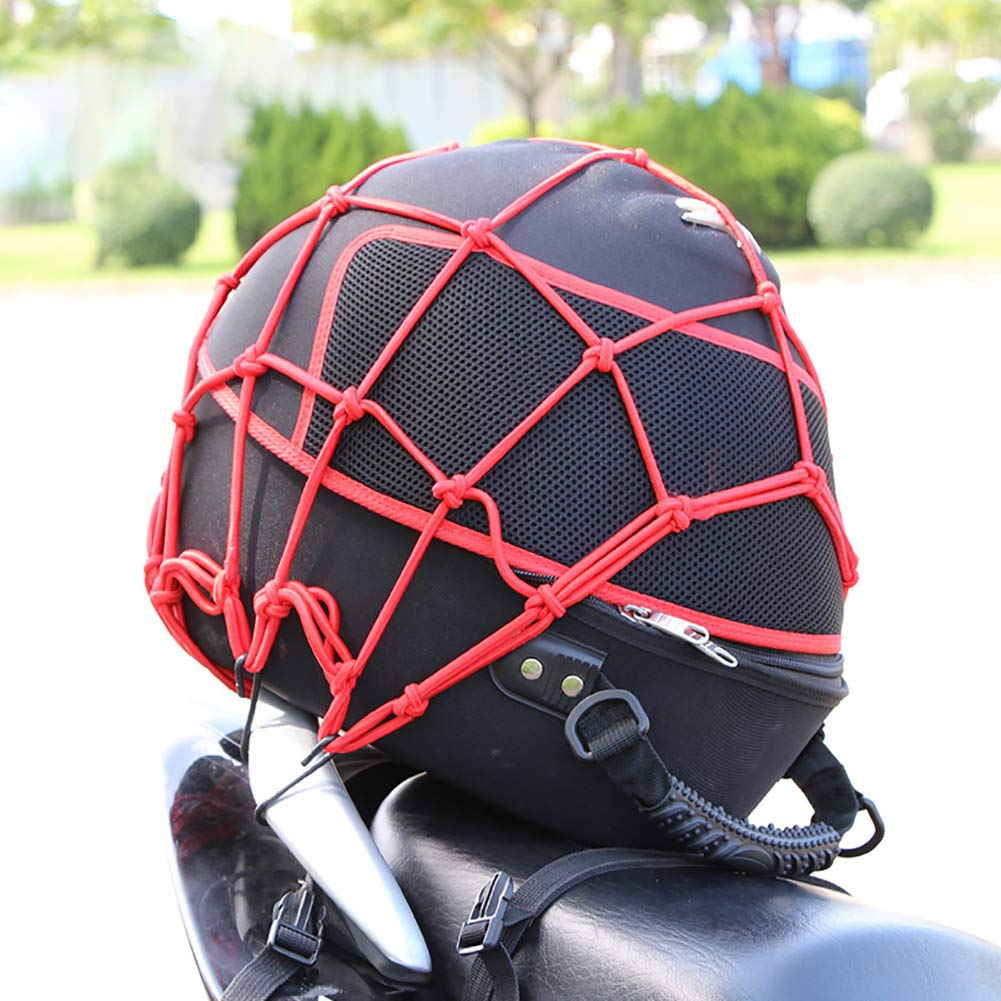 2 Pack of Black 15X15 Cargo Net Featuring 6 Adjustable Hooks /& Tight 2x2 Mesh 2 Pack Red