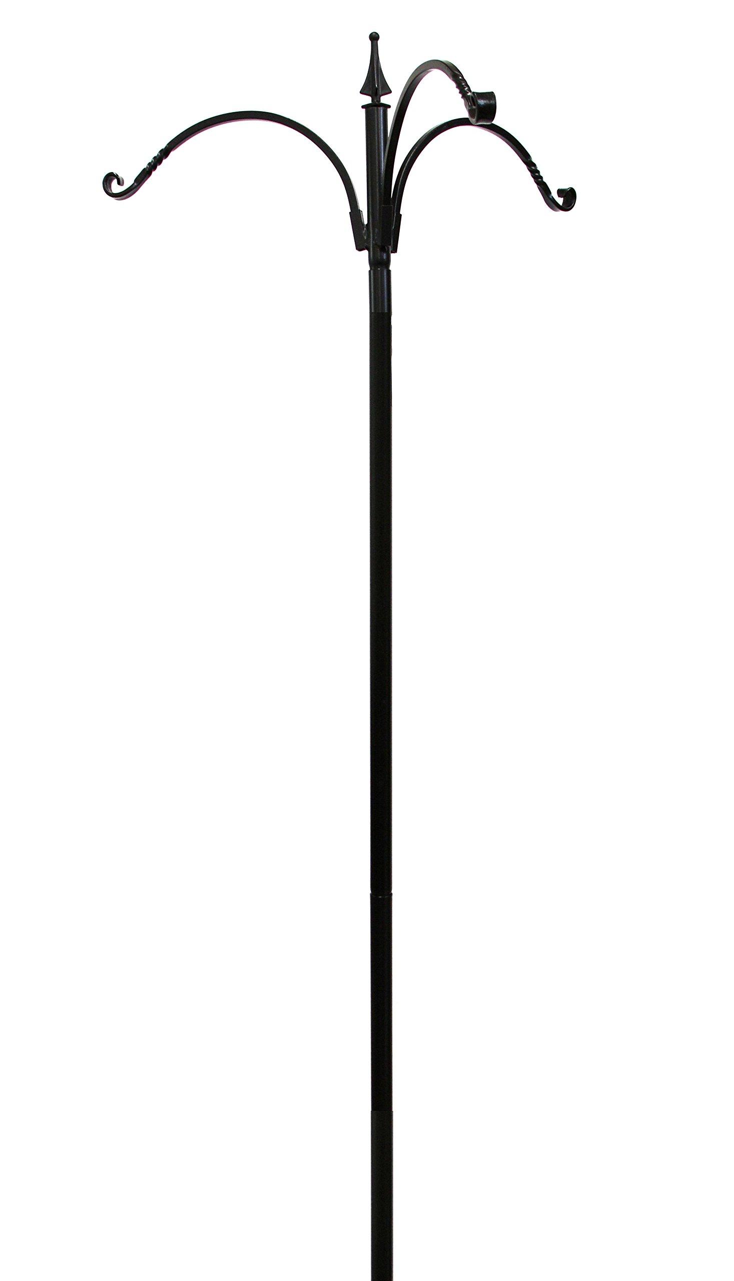 Kettle Moraine 3 Arm Bird Feeder Pole Set with Twister Ground Socket