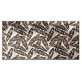 Indian Feathers Rectangle Tablecloth: Medium Dining Room Kitchen Woven Polyester Custom Print