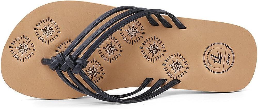 Aerusi Womens Livi Life Indoor Or Outdoor Casual Walking Flip Flop Sandals