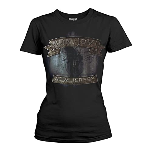 Ladies Jon Bon Jovi New Jersey Rock oficial Camiseta mujeres señoras