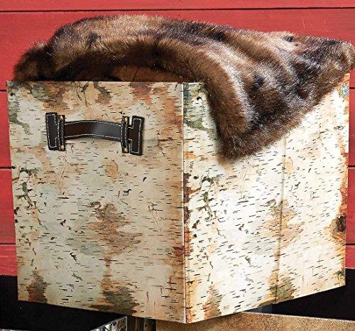 Birch Bark Folding Storage Bin