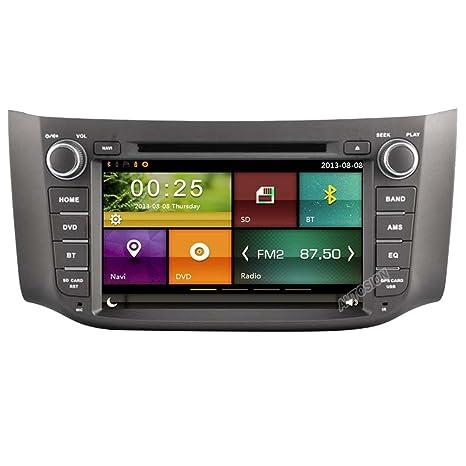 autosion coche reproductor de DVD GPS navegación Radio estéreo unidad central para Nissan Sylphy Sentra Pulsar