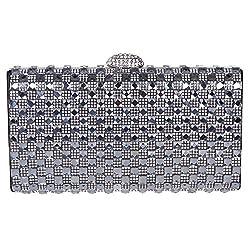 Fawziya Women Bling Hard Case Clutch Purse Rhinestone Crystal Evening Clutch Bags-Black