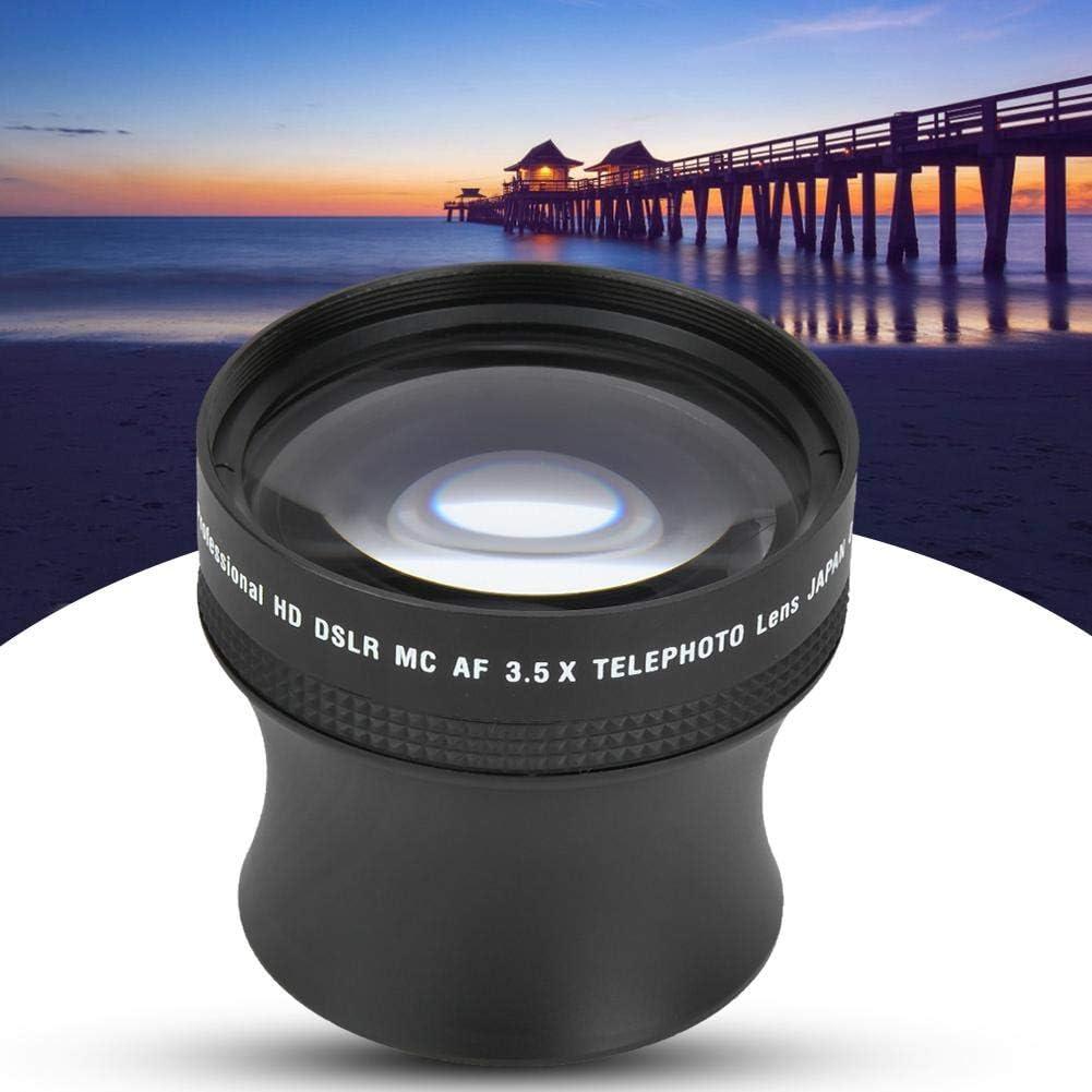Pomya Teleconverter Lens 52mm 3.5X Universal Aluminum Alloy Teleconverter Telephoto Lens DSLR Cameras Accessory