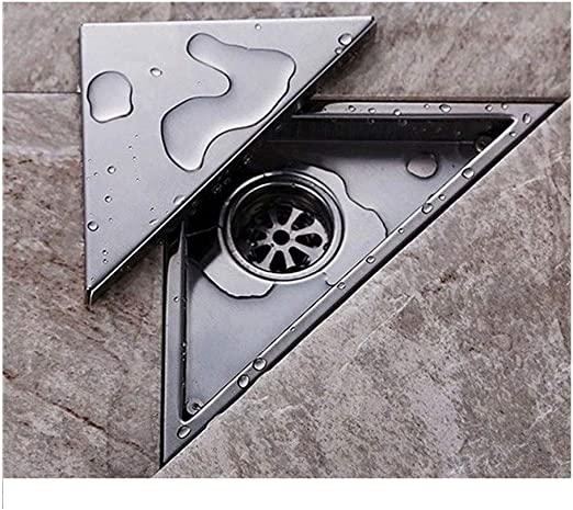 Amazon Com Floor Drain Hidden Type Triangle Tile Insert Floor