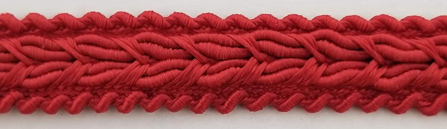 Red 1//2 Braid Gimp Trimming Color Options Available! 18 Continuous Yards