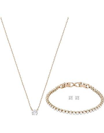 Beautiful Swarovski Women Stainless Steel Jewellery Set 5408438