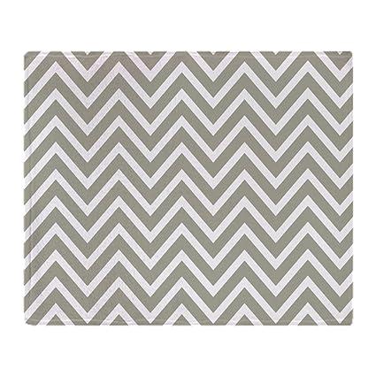 54a8bcc097 Amazon.com  CafePress Gray and White Chevron Stripes Soft Fleece ...