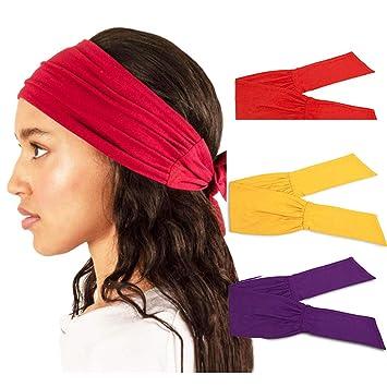 New Womens Wide Yoga Headband Elastic Stretch Hairband Elastic Hair Band Turban
