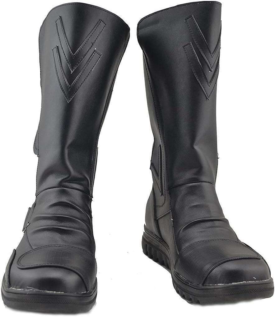 Telacos Sith Costume Darth Maul Cosplay Shoes Black Boots Custom Made