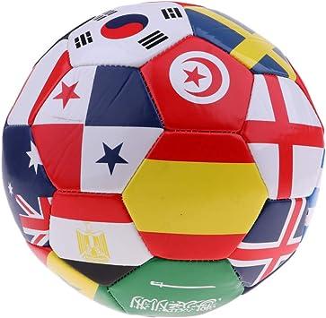 MagiDeal Balón De Fútbol De Bandera Internacional Tamaño 5 con ...