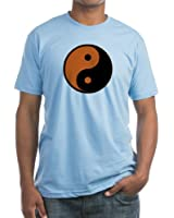 CafePress - Halloween Yin Yang T-Shirt - Fitted T-Shirt, Vintage Fit Soft Cotton Tee