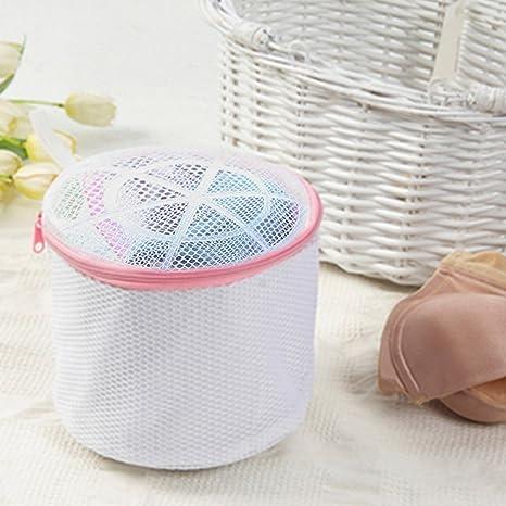 White Wash Bag Laundry Washing Mesh Net Lingerie Underwear Bra Clothes Socks 1PC