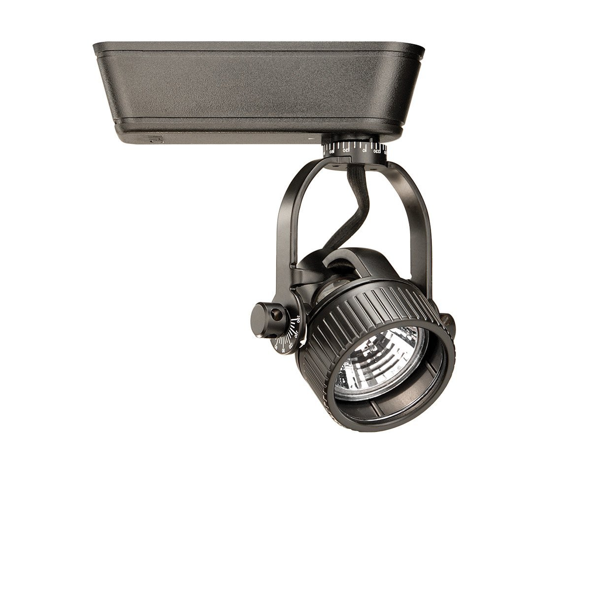 WAC Lighting HHT-164L-BK H Series Low Voltage Track Head, 75W