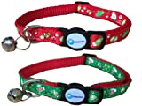 Christmas Cat Collar Adjustable Breakaway Pet