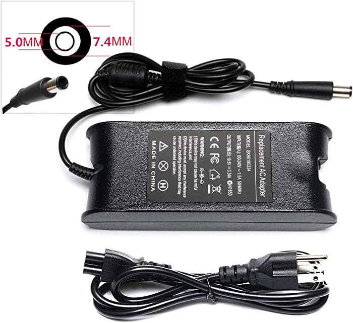19.5V 3.34A AC Adapter Laptop Charger for Dell Inspiron 1420 1440 1525 1750 300M 510M 630M 6400 8600 E1405 E1505,P/Ns PA-12 Family,Latitude D620 D630 Power Cords