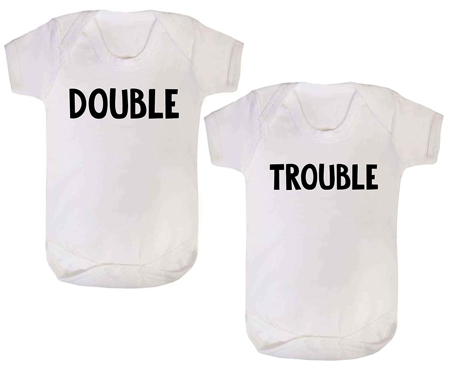 Twins Baby bodysuits Evil Twins Babygrow Vest Pack Of 2 Gifts Presents newborn