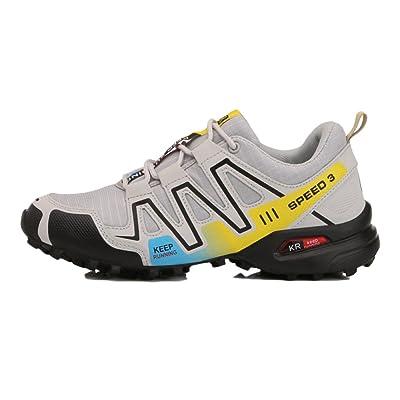 nihiug Randonnée Chaussures Hommes Imperméable à L'cheville Léger Plus Taille 48 Lumineux Chaussures Camping Randonnée en Plein Air Chaussures