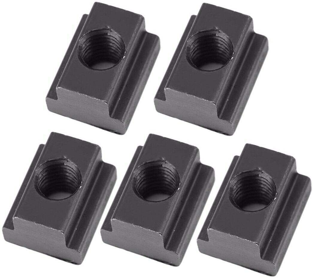 ZQLA NEW 5X T Nuts Black Oxide Finish M6//M8//M10 T-Slot for Table Slot Milling M8