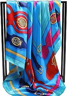 xinxin24 Pañuelo de Seda Bufanda de Moda Venda Caliente 90Cm * 90Cm, Estilo 6
