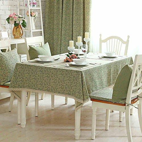 Tischdecke Tuch Stoff Europäische Stil Ländlichen Gitter Baumwolle und Leinen Baumwolle Modern Alten grünen Fächer Spitzen Tischdecke ( größe   140210cm ) B0743BMMRC Tischdecken Attraktive Mode  | Gutes Design