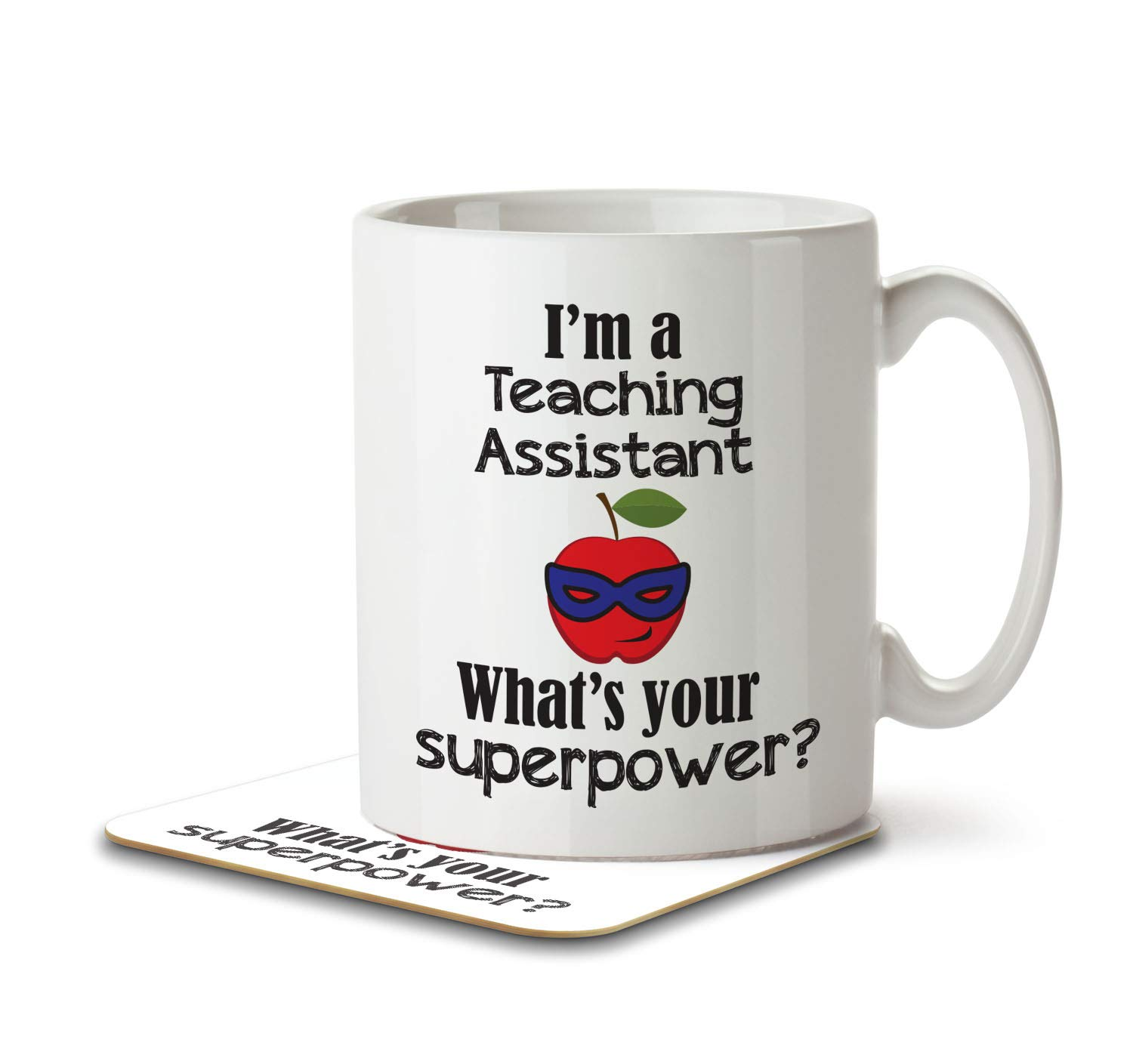 I'm a Teaching Assistant What's Your Superpower? - Mug and Coaster By Inky Penguin The Inky Penguin