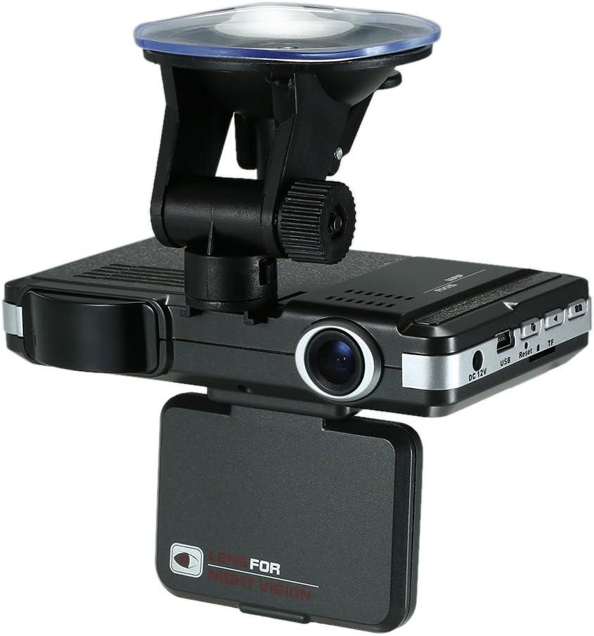 Tickas Dash Camera for Cars, Car DVR 2 in 1 720P Dash Cam Radar Speed Detector with Full Band Mute Button Loop Recording G-Sensor Anti Radar Detector