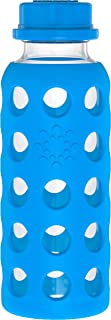 product image for Glass Bottle with Flat Cap and Silicone Sleeve Ocean Lifefactory 9 oz Bottle