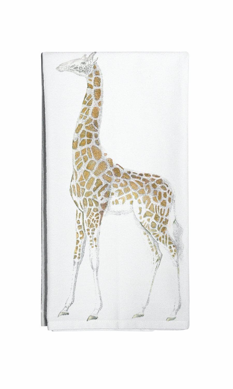 Montgomery Street Giraffe Cotton Flour Sack Dish Towel
