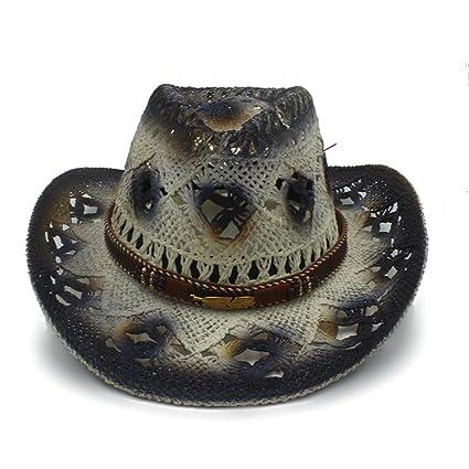 GR Sombreros de Vaquero de Las Mujeres de los Hombres Sombrero de Paja  Occidental de los 5ca7ca168f4