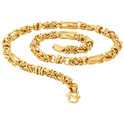 87a8b1b00 Thrillz and Fancy Heavy Franco Rhodium Most Popular Gold Plated Neck Chain  for Men   Boys  Amazon.in  Jewellery