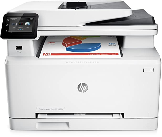 HP CLJ Pro M277n - Impresora multifunción láser (Color, 800 MHz, 256 MB, DDR3 SDRAM, Intel Ninguno, hasta 18 ppm) Color Blanco