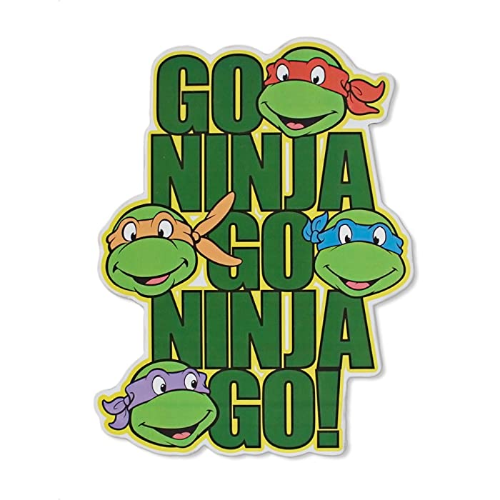 Silver Buffalo NT5506 Teenage Mutant Ninja Turtles Go Ninja Go! Die Cut Sign, 7 x 13 inches