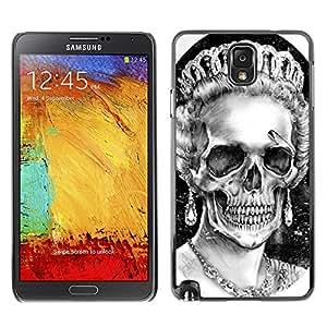 Shell-Star Art & Design plastique dur Coque de protection rigide pour Cas Case pour SAMSUNG Galaxy Note 3 III / N9000 / N9005 ( Queen Crown White Black Skull Dead )