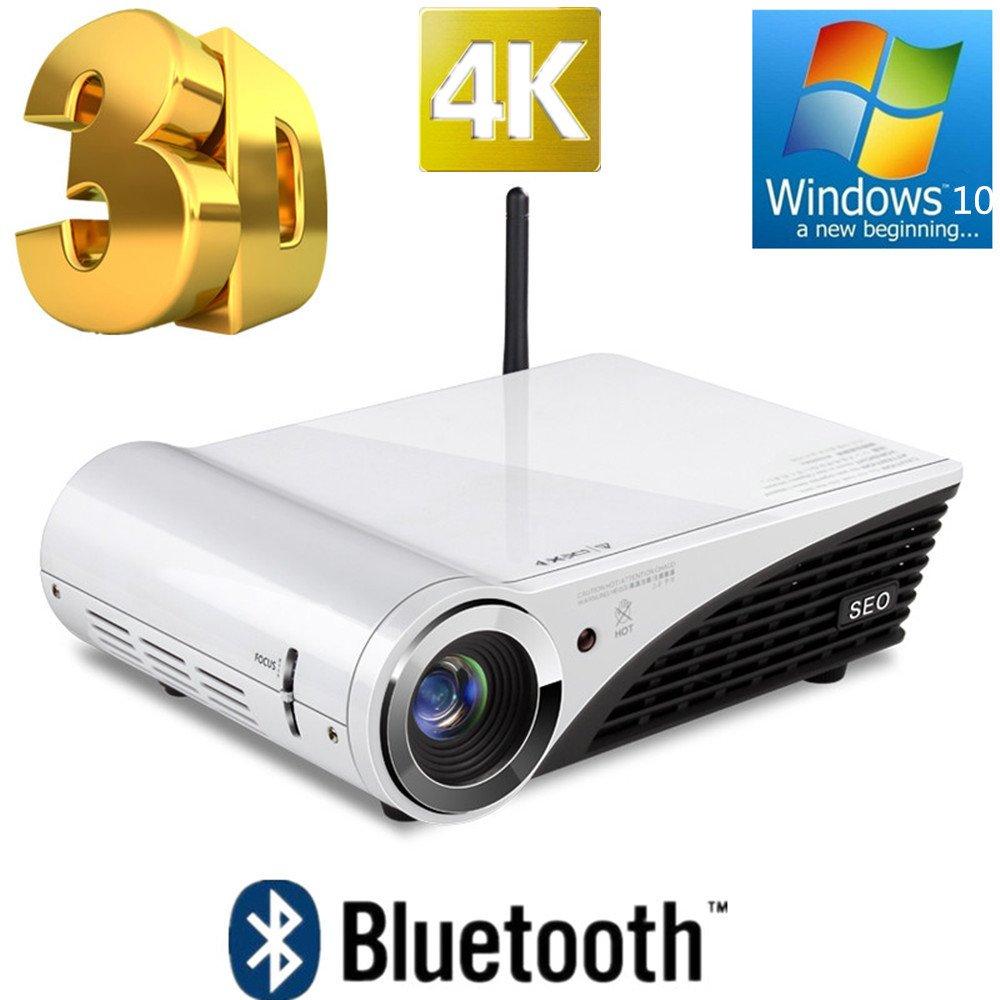 Liku técnicas de Windows 10 3D 4K proyector 1080P 2000 ANSI ...