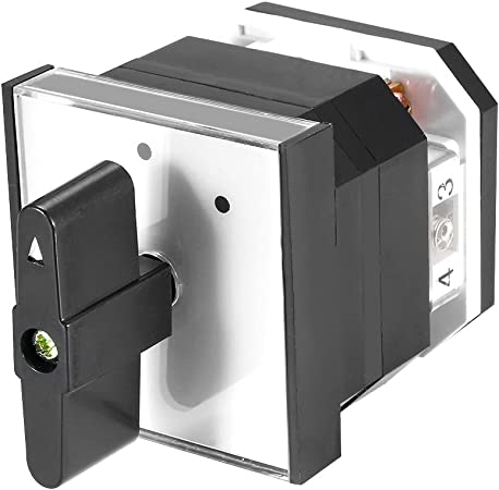 uxcell Changeover Switch 3 Position Rotary Selector Cam Switch Panel Mount 12 Terminals Latching Ui550V Ith 16A