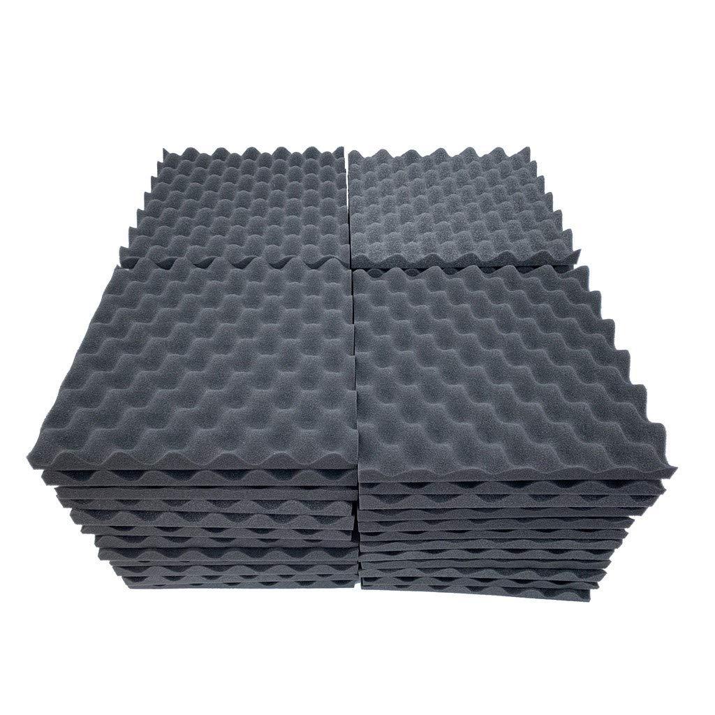 Soundproof Foam, 48Pcs Acoustic Foam Panel Sound Stop Absorption Sponge Studio KTV Soundproof (C)