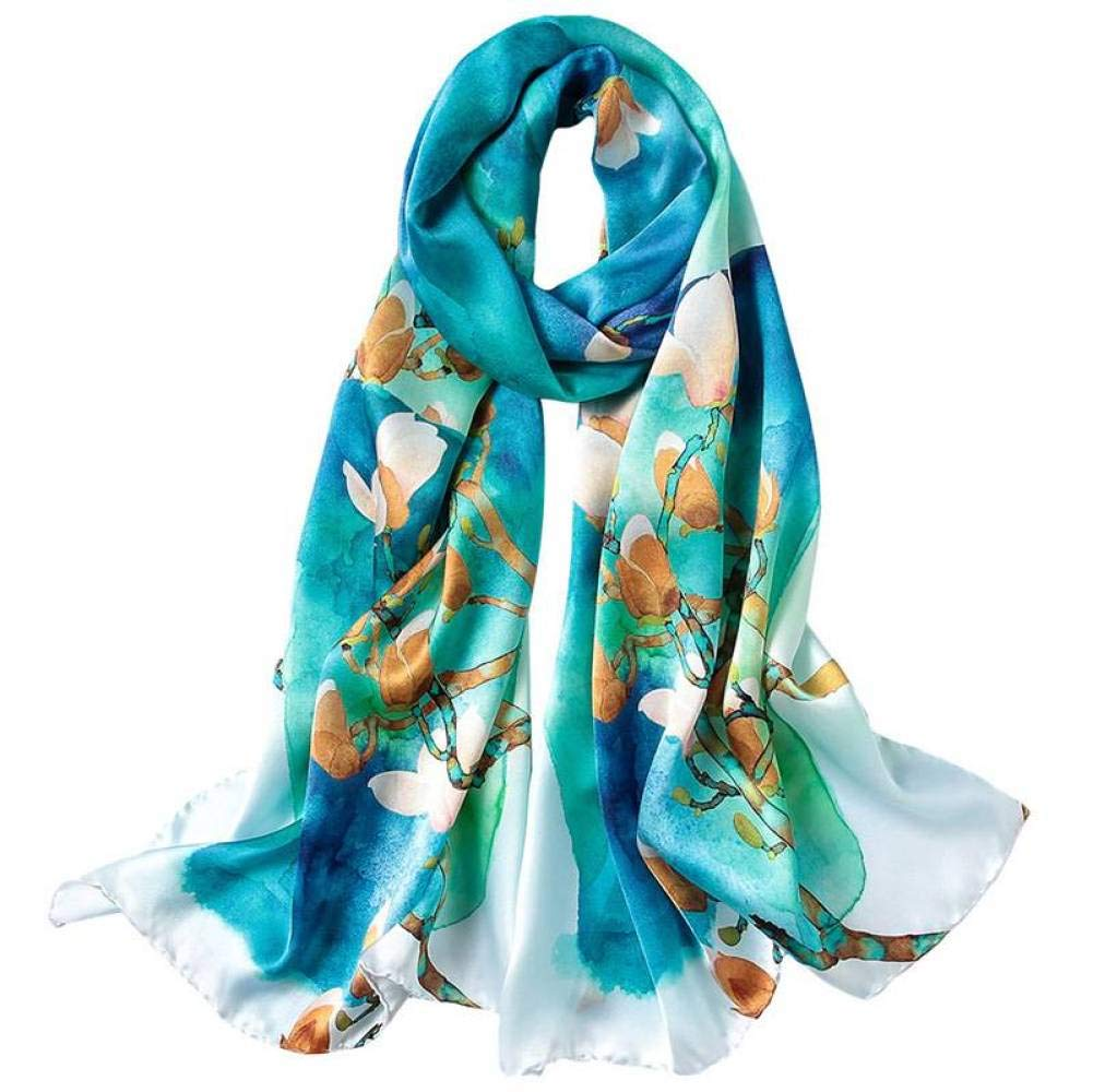 Two 17552cm Women's Scarves, Silk Prints, Long paragraphs, Spring and Autumn, Multi-Function, Shawls Qysser