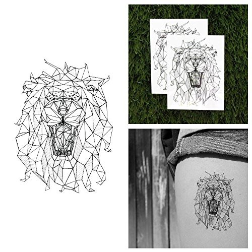 Tattify Lion Temporary Tattoo - The King (Set of 2) - Other Styles Available and Fashionable Temporary Tattoos