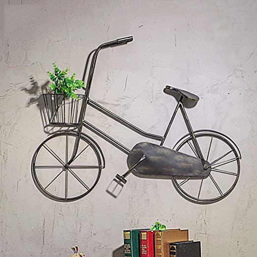 LIN HE SHOP Vintage Bicicleta Pared Colgante Antiguo Adorno de ...