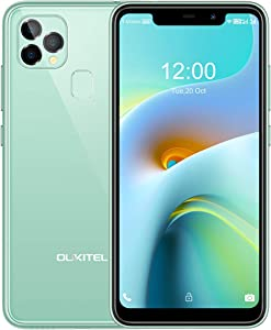 Unlocked Cell Phone, 4GB+128GB Android 10, Support T-Mobile MetroPCS Straight Talk & Most AT&T, OUKITEL 2021 Dual SIM Smartphone C22 5.86 Inch HD Screen+Rear 3 Camera Face & Fingerprint ID|Green