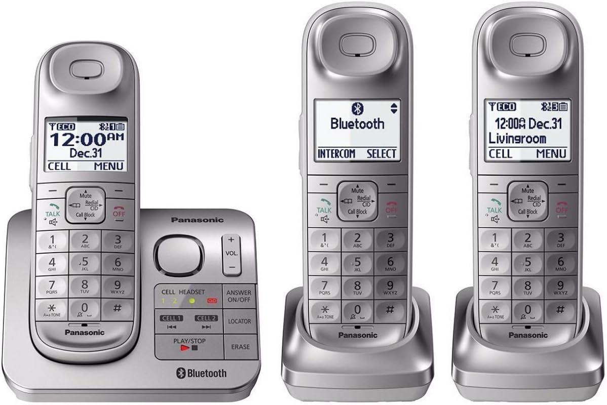 Panasonic kx-tgl463s link2cell Bluetooth inalámbrico 6 Terminales w/contestador automático: Amazon.es: Electrónica