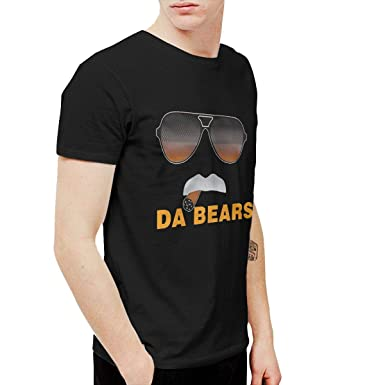 45580d566 Amazon.com: LVTVFNQJ Men Funny Da Bears Cool Tennis Black T-Shirt ...