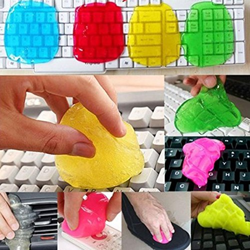 RedSonics(TM) 1PC Car Cleaning Glue Cleaner Dust Slimy Gel For Keyboard Wipe Super Cleaning Sponges Glue Vent Air Outlet Cleaner Random Color ()